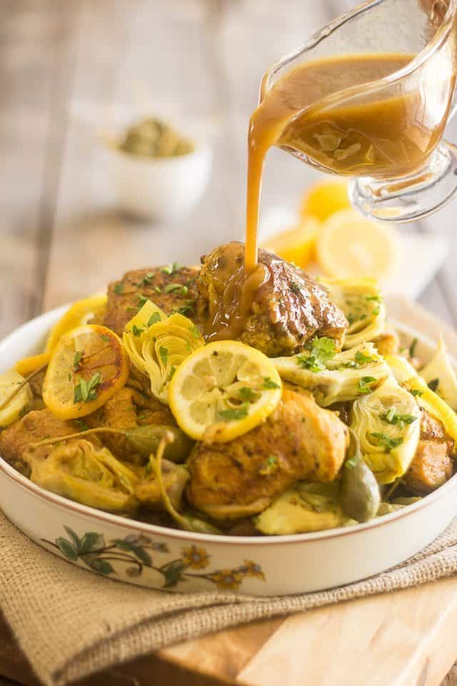 Lemon Artichoke Slow Cooker Chicken