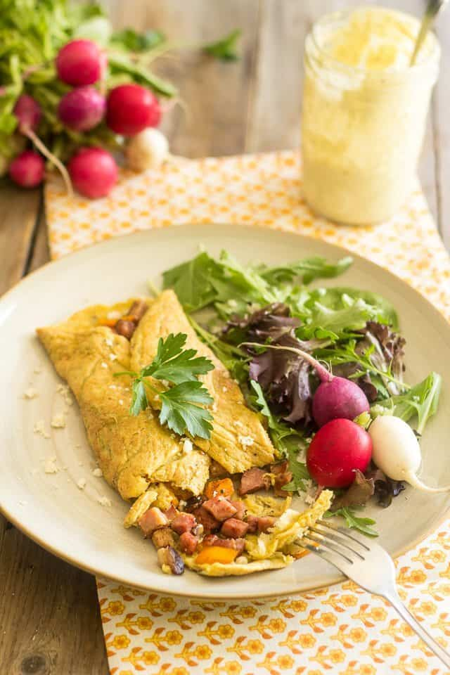 Simple Western Omelette   thehealthyfoodie.com