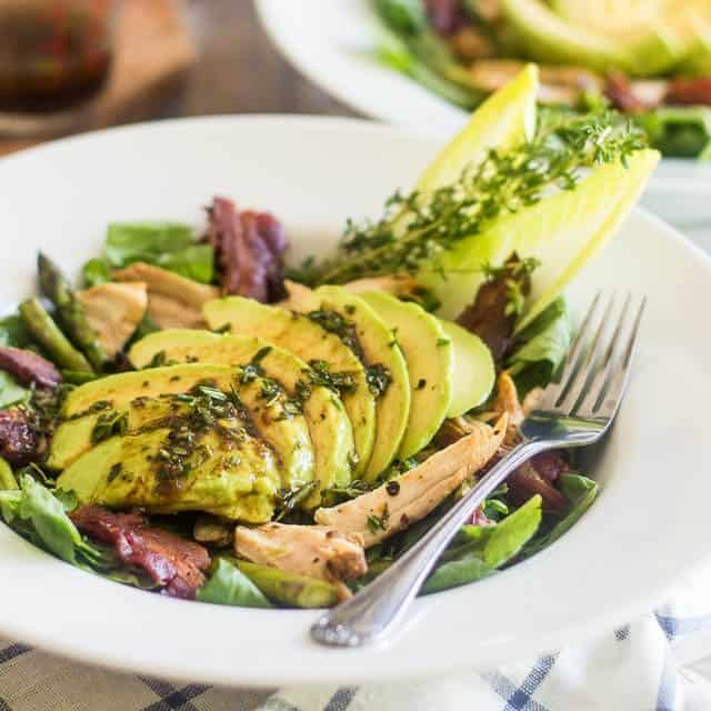 Chicken, Bacon and Roasted Asparagus Salad