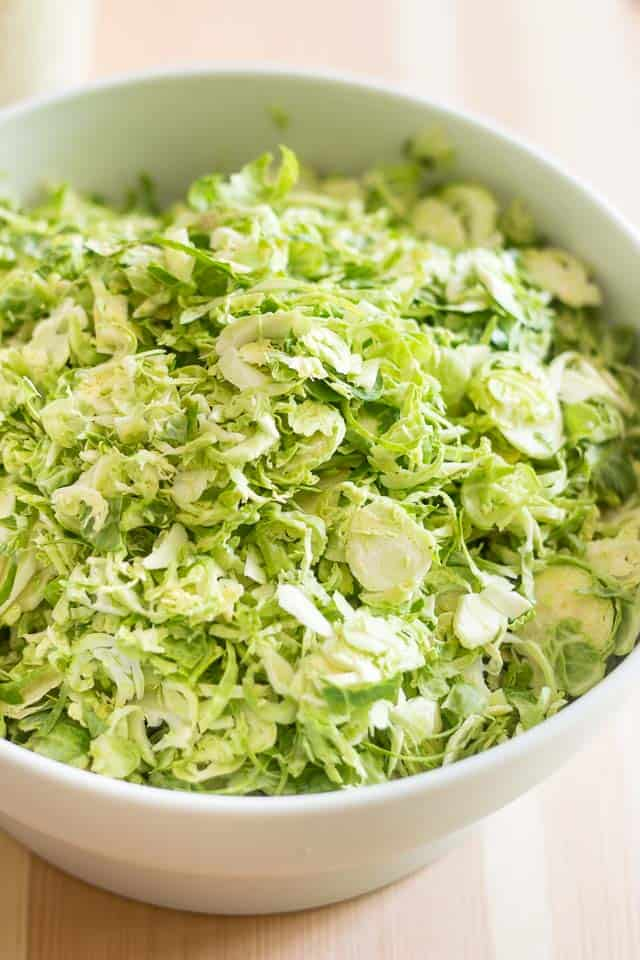 Shaved Brussels Sprouts | thehealthyfoodie.com