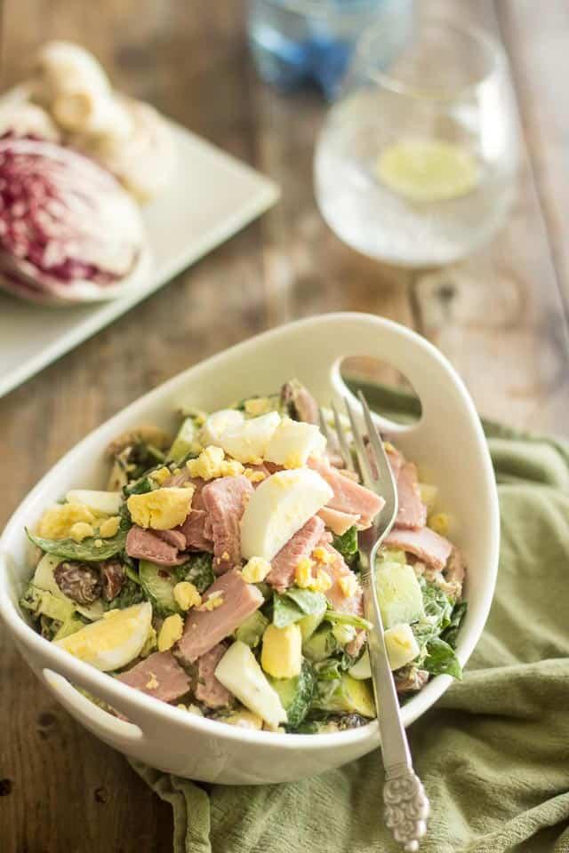 Smoked Ham and Hard-Boiled Egg Salad | thehealthyfoodie.com