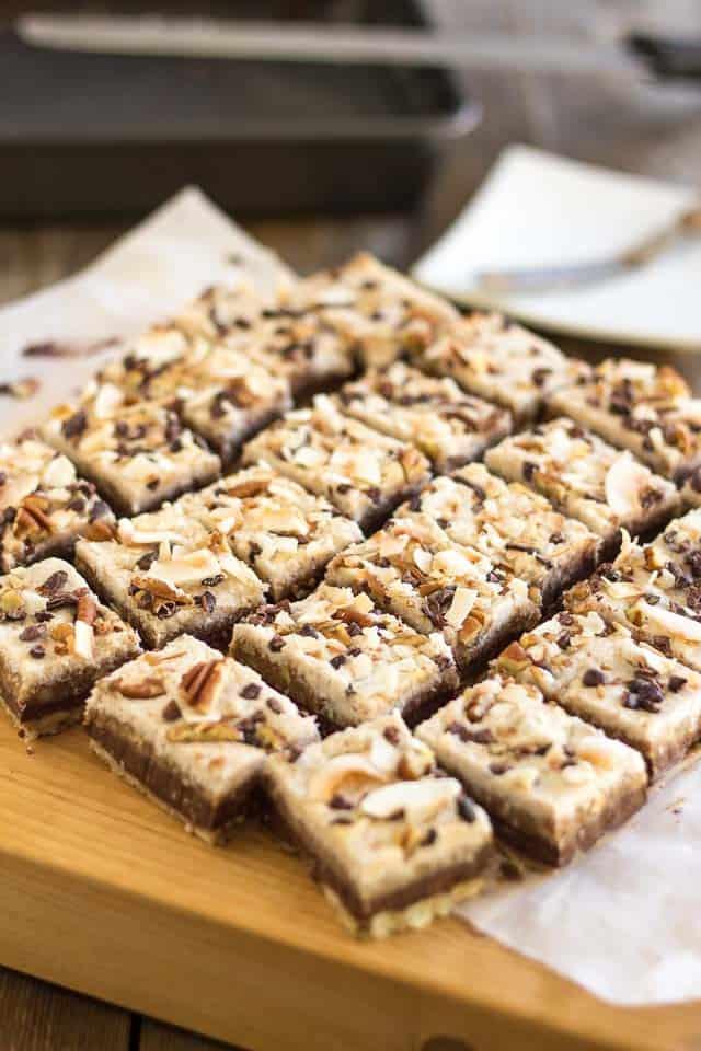 Layered Choconut Bars | thehealthyfoodie.com