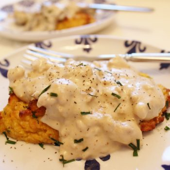 Butternut Squash Biscuits with Mushroom Gravy – A Guest Post by Beth of Hooked on Health