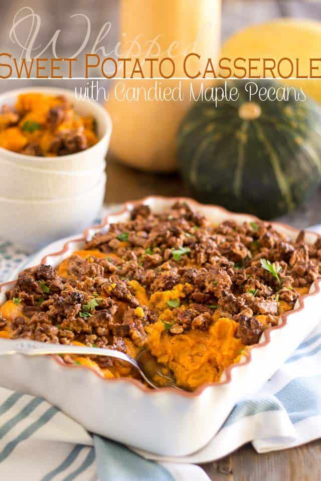 Whipped Sweet Potato Casserole | thehealthyfoodie.com