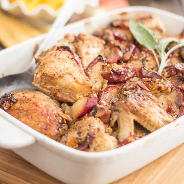 Apple and Honey Roasted Chicken