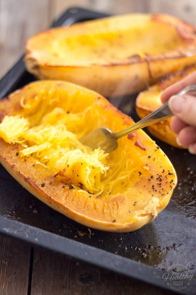Oven Baked Spaghetti Squash | Recipe on thehealthyfoodie.com