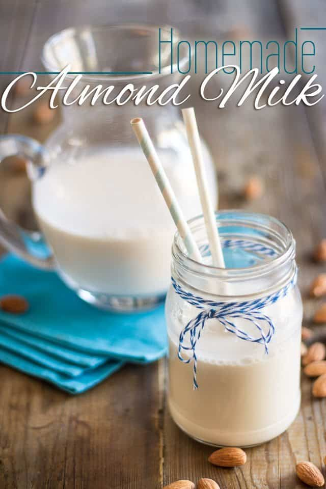 All Natural Homemade Almond Milk | theheatlhyfoodie.com