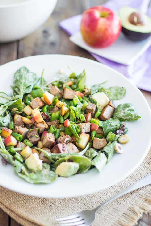 Warm Lamb and Apple Salad | thehealthyfoodie.com