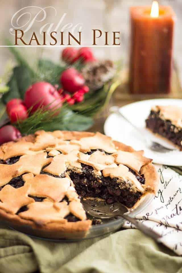 Paleo Raisin Pie | thehealthyfoodie.com