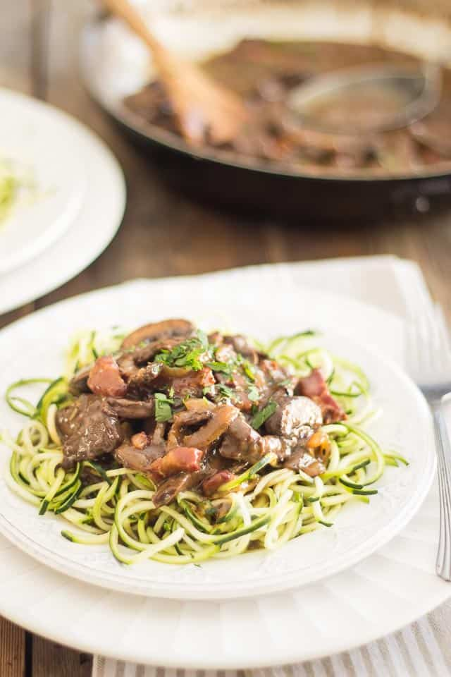 Beef Heart Stroganoff | thehealthyfoodie.com
