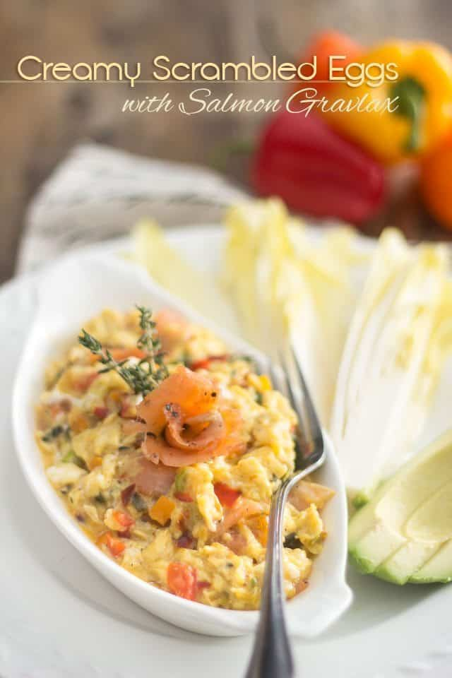 Creamy Scrambled Eggs with Salmon Gravlax | thehealthyfoodie.con