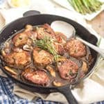 Pork Medallions with Mushroom Sauce | thehealthyfoodie.com