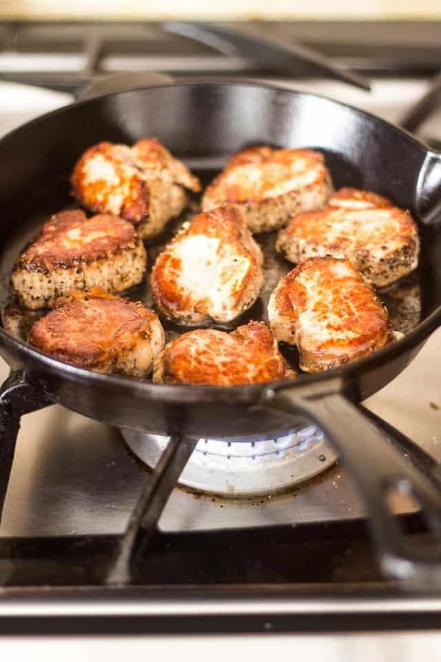Pork Medallions with Mushroom Sauce   thehealthyfoodie.com