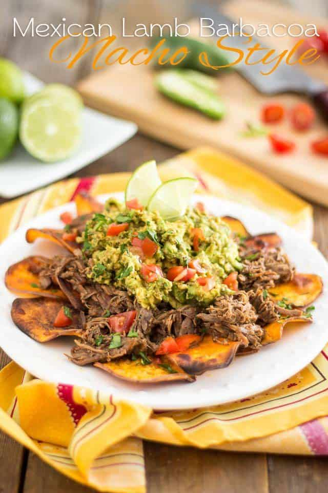 Lamb Barbacoa Nacho Style | thehealthyfoodie.com