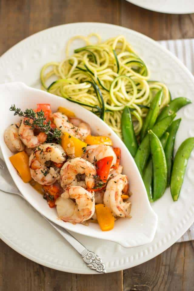 Quick and Easy Sauteed Shrimp  | thehealthyfoodie.com