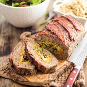 Rolled Meatloaf – Stuffed with Sweet Potatoes, Mushrooms and Brussels Sprouts
