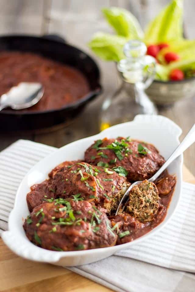 Salisbury Steak Kicked-Up a Notch | thehealthyfoodie.com