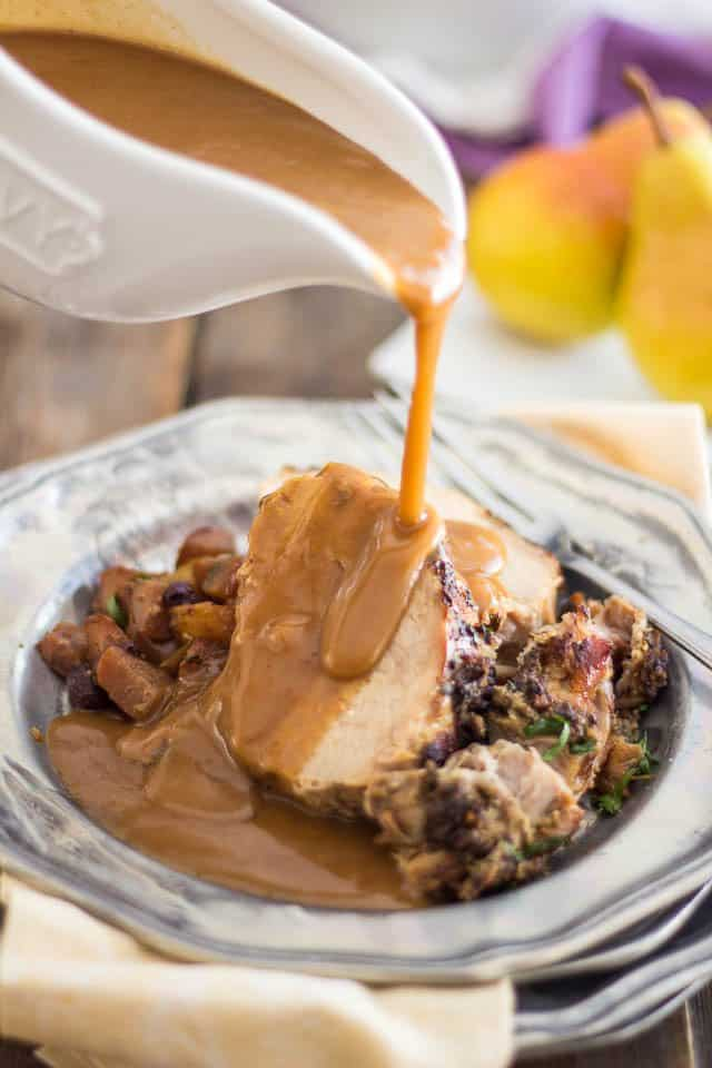 Slow Cooker Pork Loin Roast | thehealthyfoodie.com