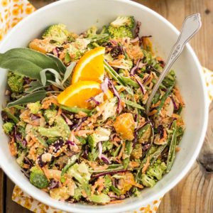 Broccoli Carrot and Orange Slaw