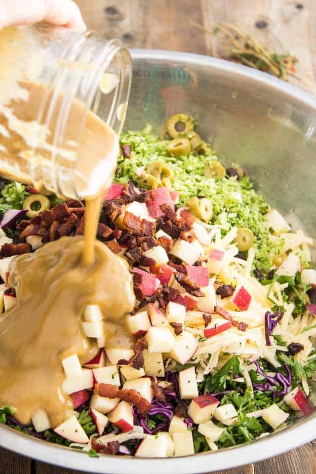 Broccoli and Rutabaga Slaw | thehealthyfoodie.com