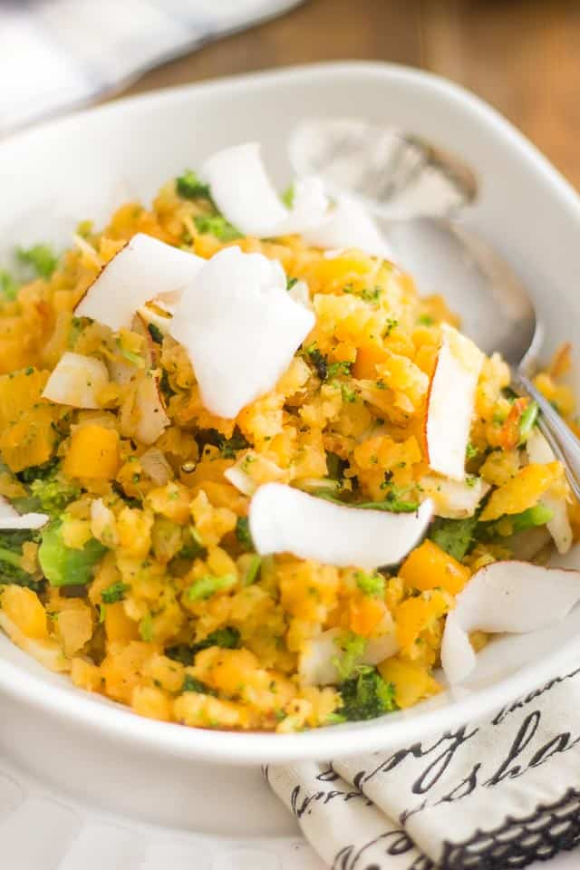 Rustic Coconut Rutabaga Mash | thehealthyfoodie.com