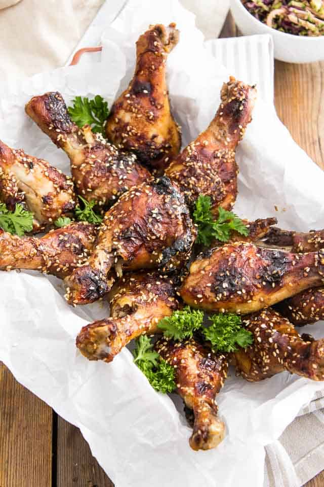 ... , rather) with these Sweet and Spicy Sesame Chicken Drumsticks