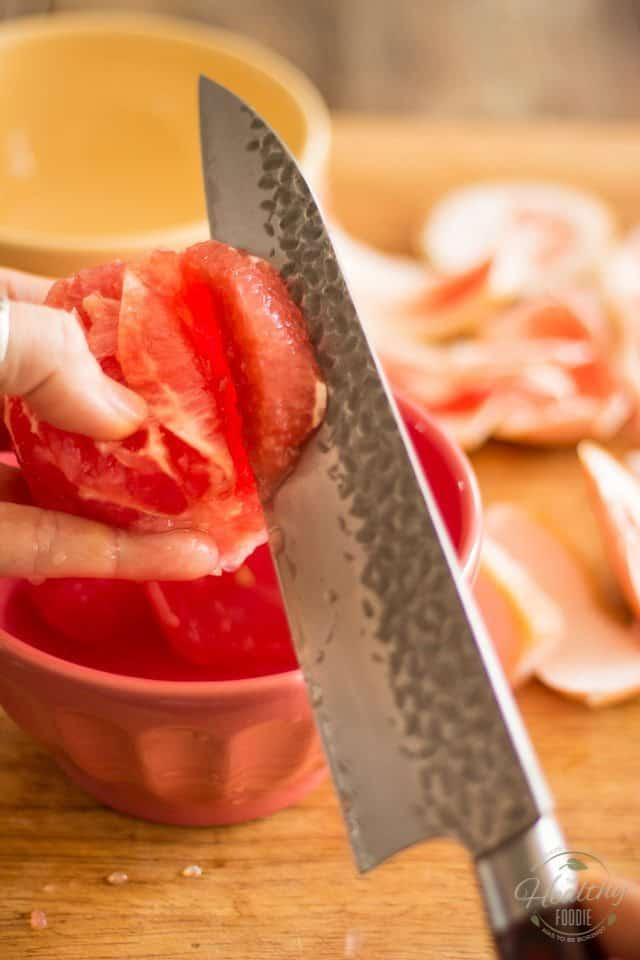 Shrimp Avocado Grapefruit Salad | thehealthyfoodie.com