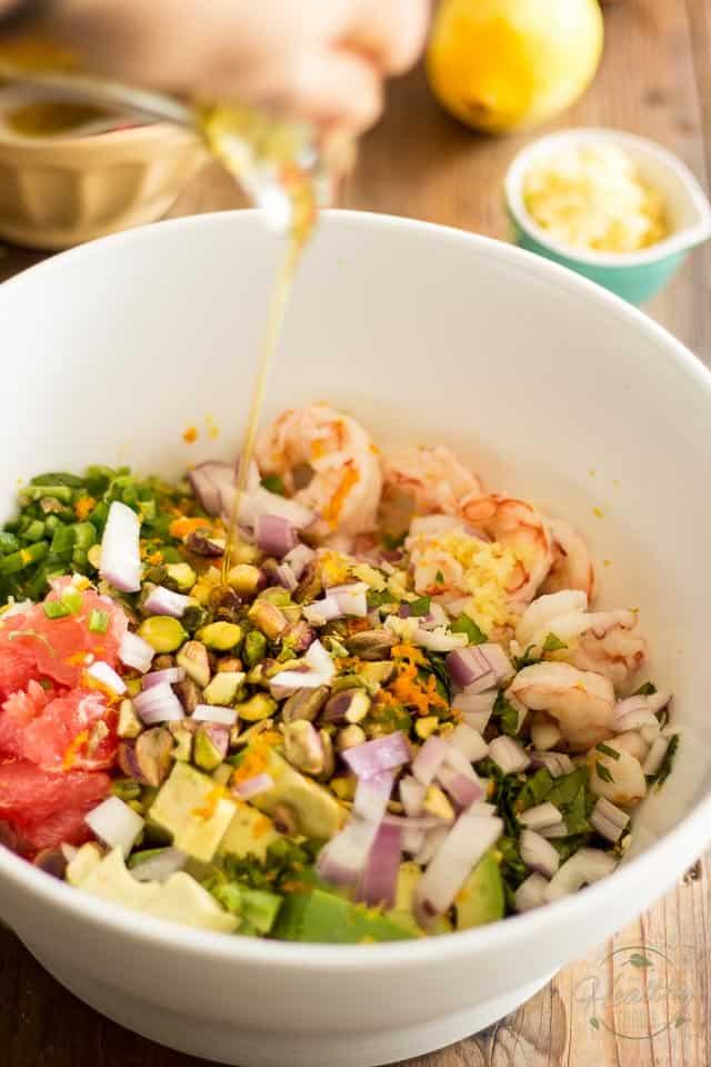 Shrimp Avocado Grapefruit Salad   thehealthyfoodie.com