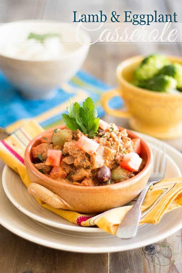 Lamb Eggplant Casserole | thehealthyfoodie.com