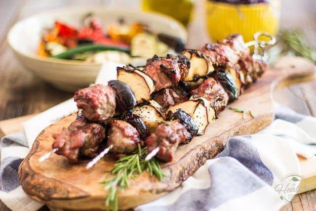 Lamb Kabobs with Apples and Dates | thehealthyfoodie.com