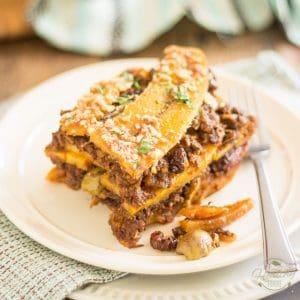 Pastelón de Plátano Maduro (aka Sweet Plantain Lasagna)