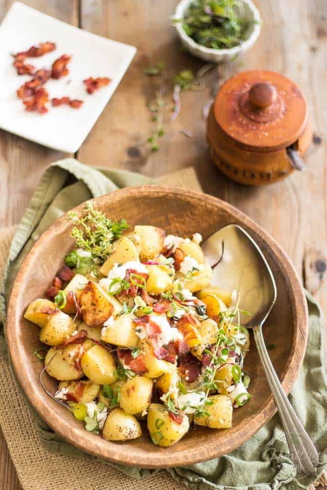 Warm Potato Salad With Goat Cheese Recipe — Dishmaps