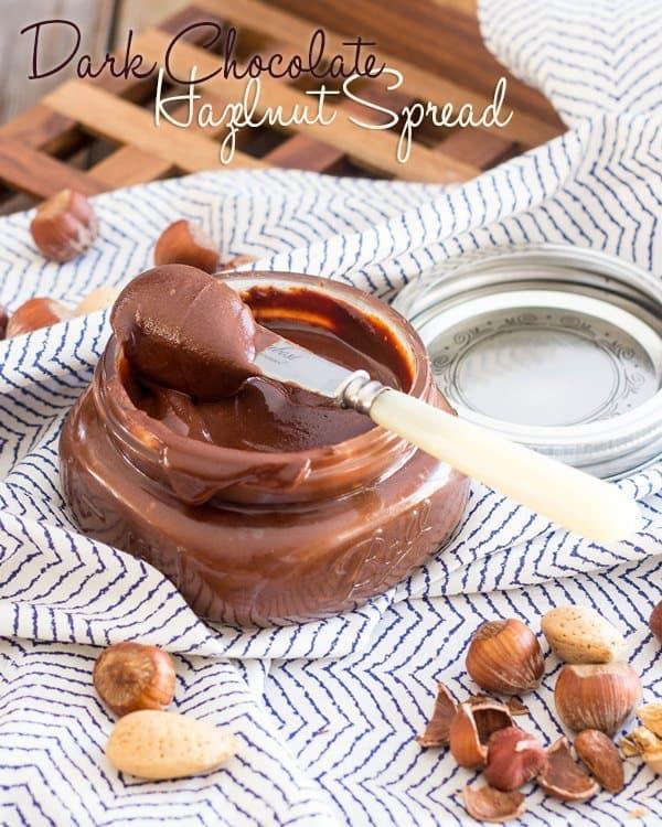 Dark Chocolate Hazelnut Spread | thehealthyfoodie.com
