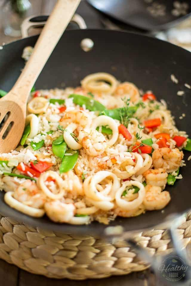 Simple Seafood Rice | thehealthyfoodie.com