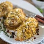 Sweet Potato Wrapped Chicken Breasts | thehealthyfoodie.com