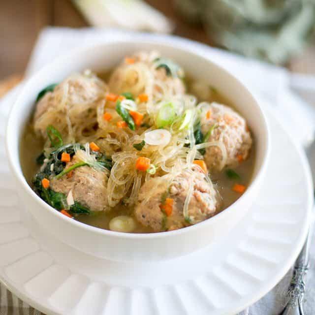 Meatball Noodle Soup – A recipe from One-Pot Paleo by Jenny Castaneda