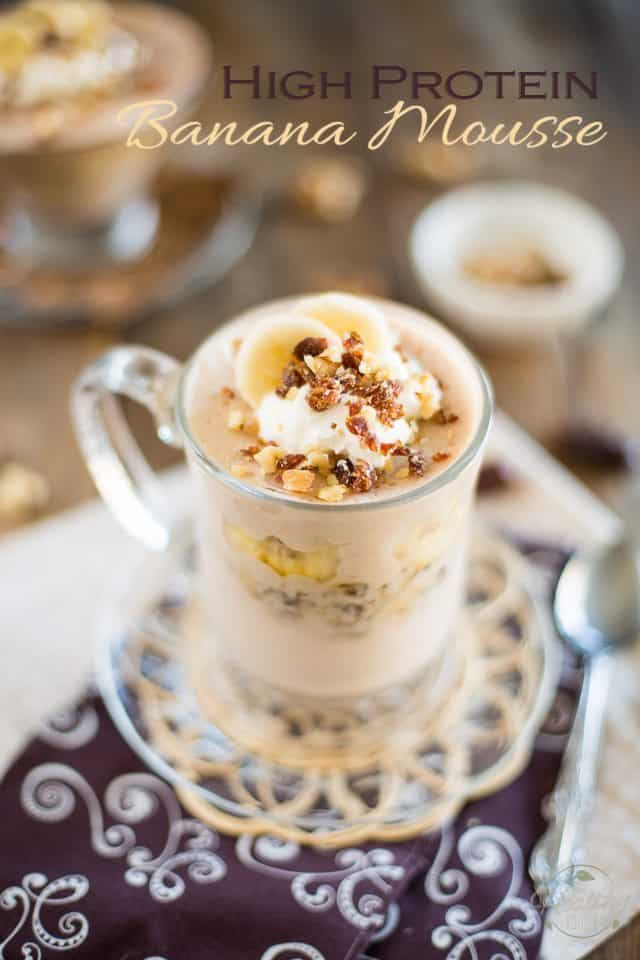 High Protein [Post Workout] Banana Mousse | thehealthyfoodie.com