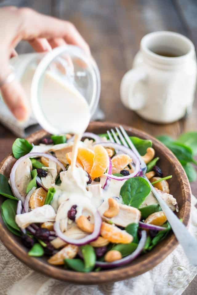 Spinach and Clementine Chicken Salad | thehealthyfoodie.com