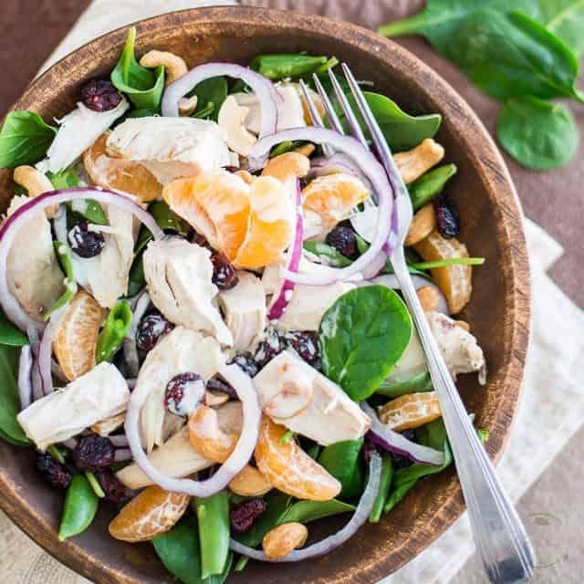 Spinach and Clementine Chicken Salad