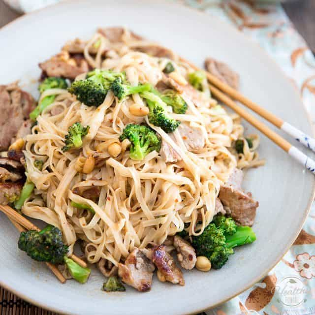 Easy Pork and Broccoli Asian Noodles
