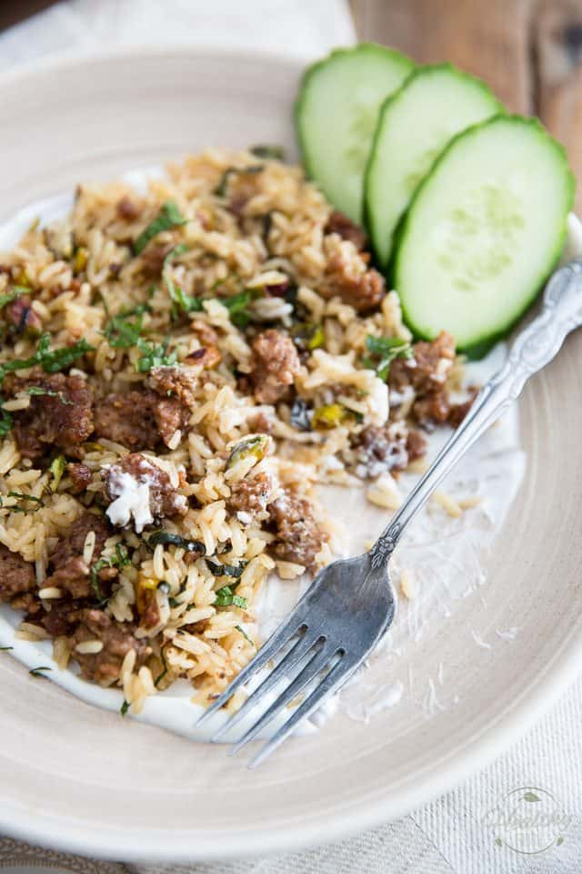 Lebanese Lamb Rice The Healthy Foodie