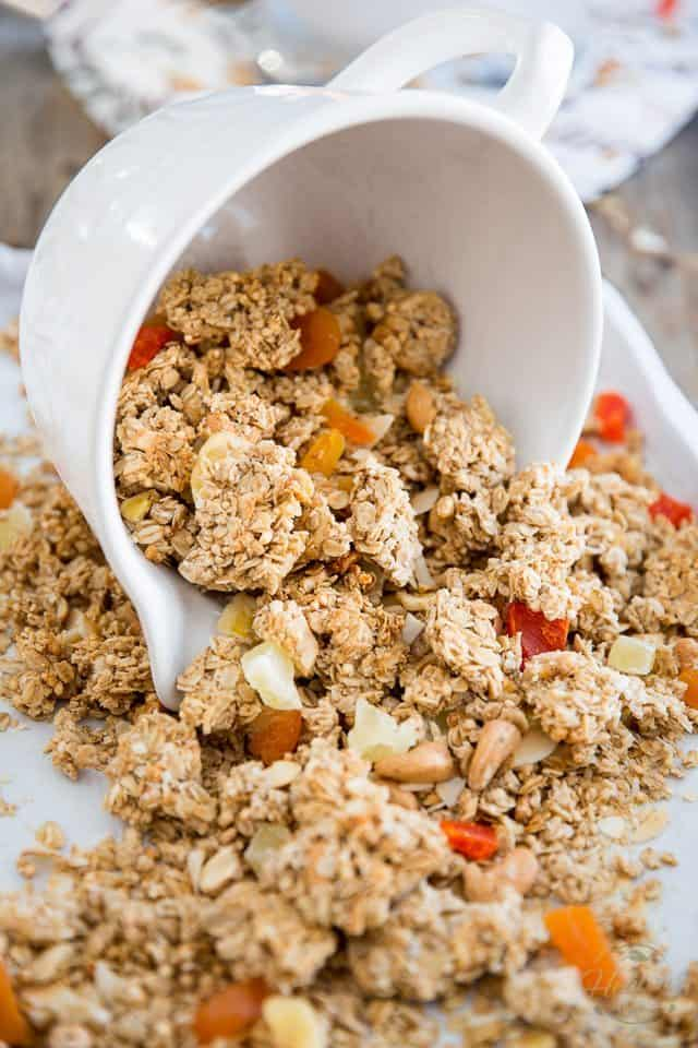 Tropical Granola Clusters | thehealthyfoodie.com
