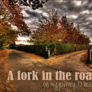 A fork in the road of my journey to health