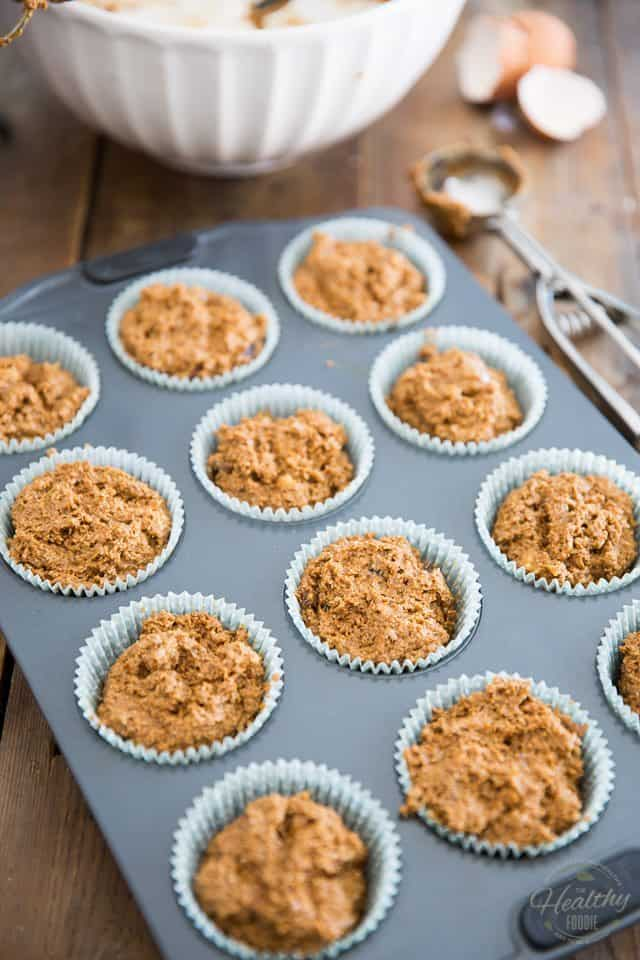 Bran and Date Muffins | thehealthyfoodie.com