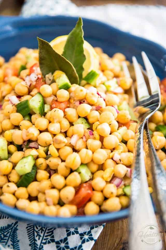 Chickpea Salad | thehealthyfoodie.com