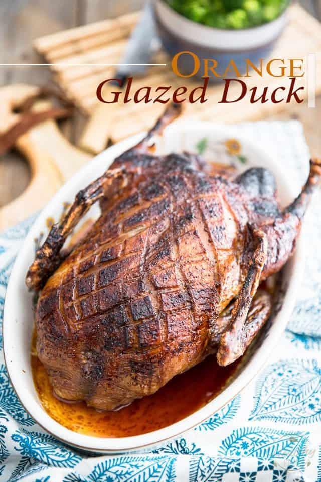 Orange Glazed Duck | thehealthyfoodie.com