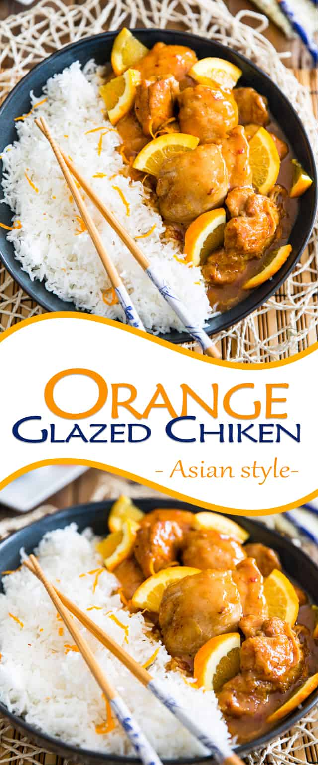 Asian Orange Glazed Chicken | thehealthyfoodie.com