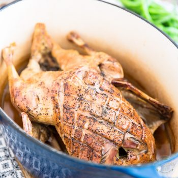 Dutch Oven Roasted Duck
