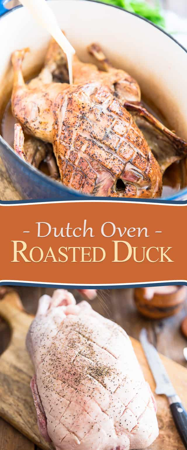 Dutch Oven Roasted Duck | thehealthyfoodie.com