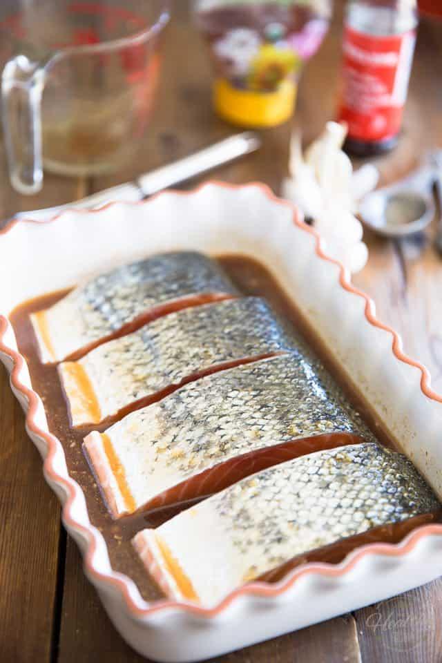 Honey Sesame Glazed Salmon | thehealthyfoodie.com